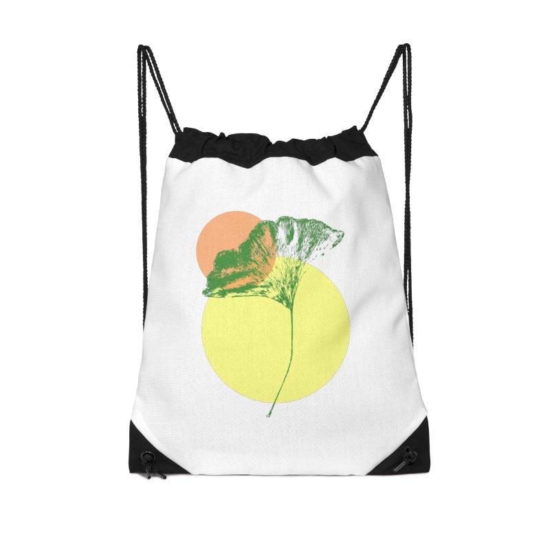 Ginkgo Leaf #3 Accessories Drawstring Bag Bag by LadyBaigStudio's Artist Shop