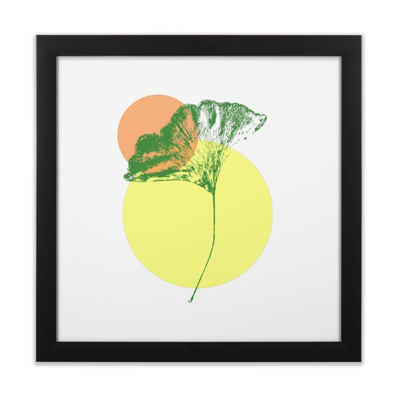 Ginkgo Leaf #3 Home Framed Fine Art Print by LadyBaigStudio's Artist Shop