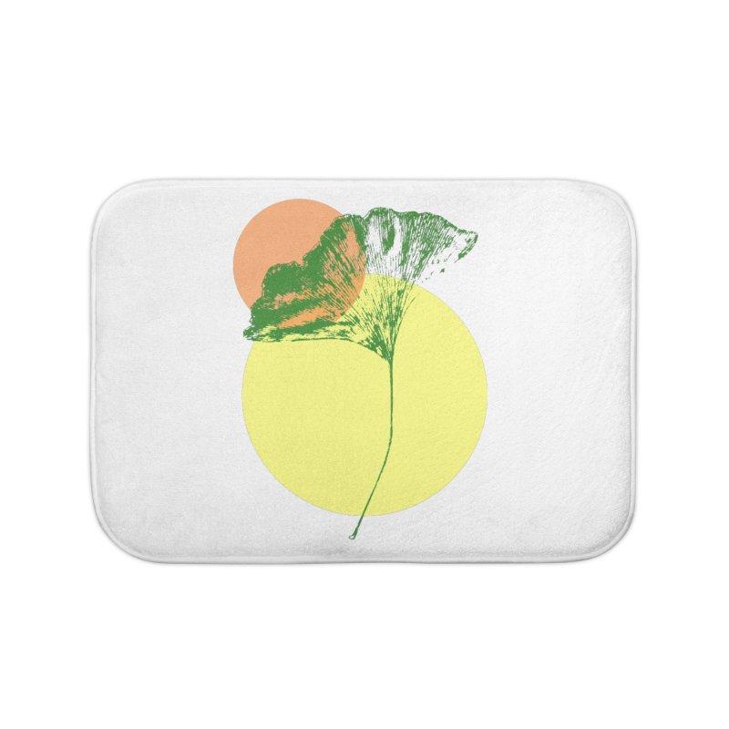 Ginkgo Leaf #3 Home Bath Mat by LadyBaigStudio's Artist Shop