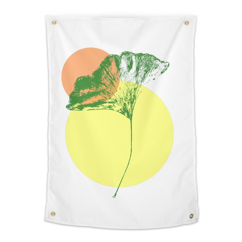 Ginkgo Leaf #3 Home Tapestry by LadyBaigStudio's Artist Shop