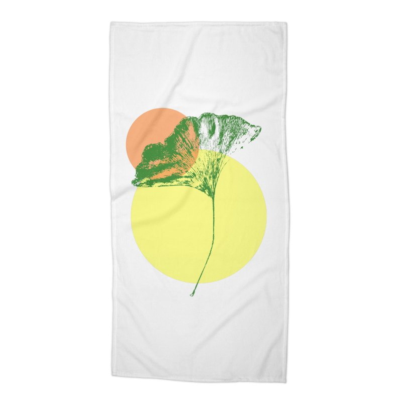 Ginkgo Leaf #3 Accessories Beach Towel by LadyBaigStudio's Artist Shop