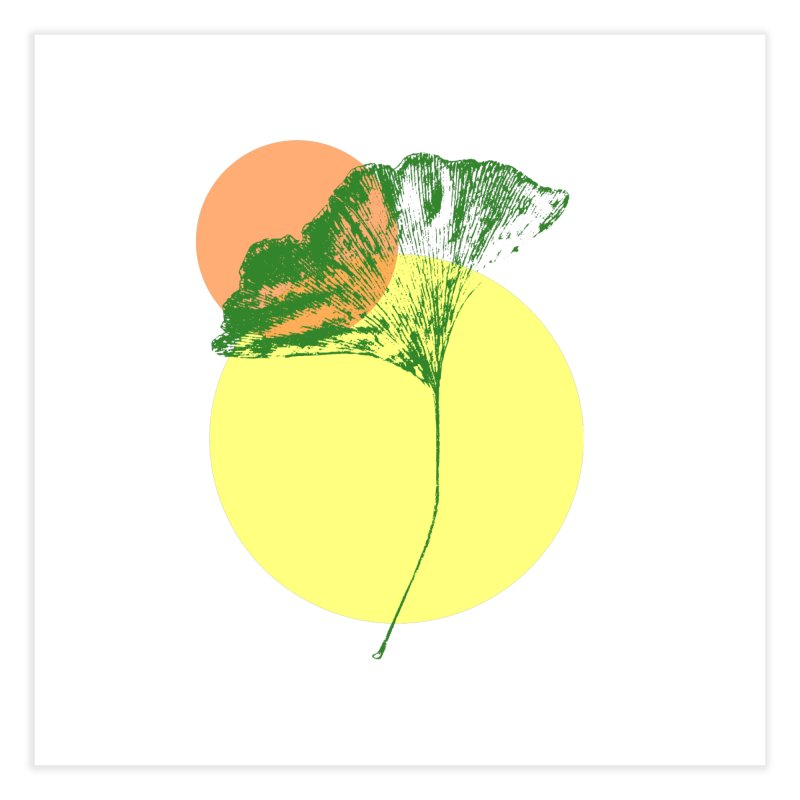 Ginkgo Leaf #3 Home Fine Art Print by LadyBaigStudio's Artist Shop