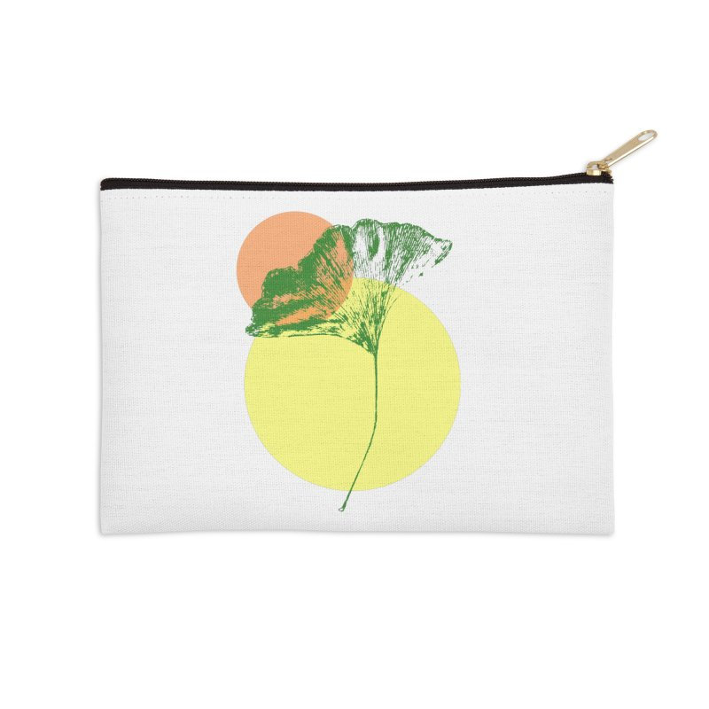 Ginkgo Leaf #3 Accessories Zip Pouch by LadyBaigStudio's Artist Shop