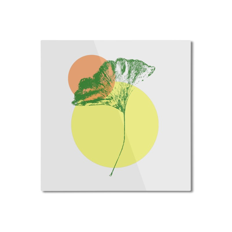 Ginkgo Leaf #3 Home Mounted Aluminum Print by LadyBaigStudio's Artist Shop