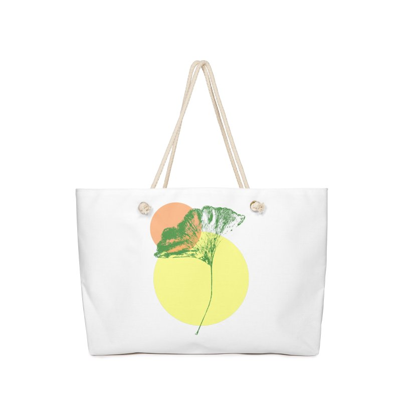 Ginkgo Leaf #3 Accessories Bag by LadyBaigStudio's Artist Shop