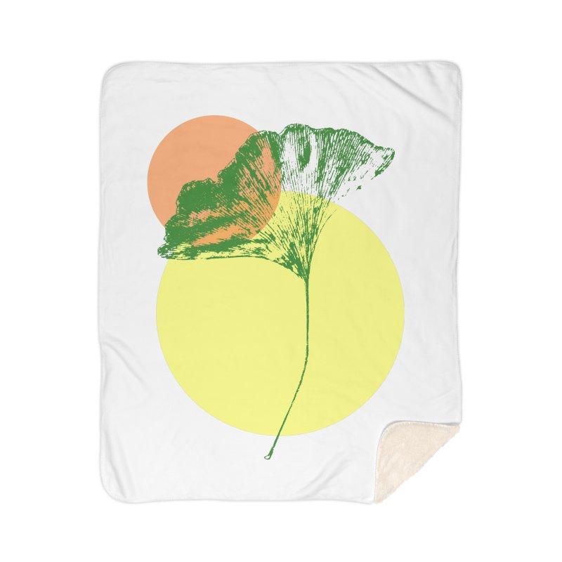 Ginkgo Leaf #3 Home Blanket by LadyBaigStudio's Artist Shop