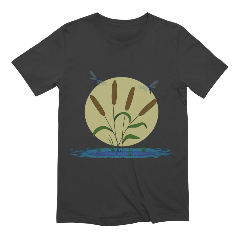 Cattails and Dragonflies Men's Extra Soft T-Shirt by LadyBaigStudio's Artist Shop