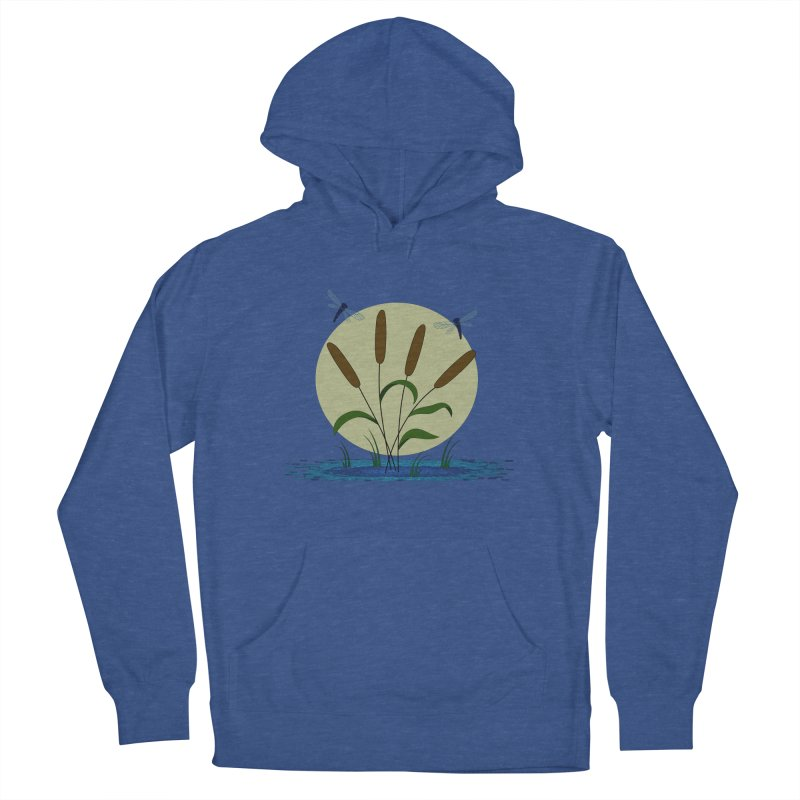 Cattails and Dragonflies Women's Pullover Hoody by LadyBaigStudio's Artist Shop