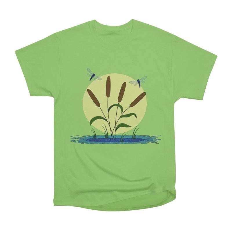 Cattails and Dragonflies Women's T-Shirt by LadyBaigStudio's Artist Shop