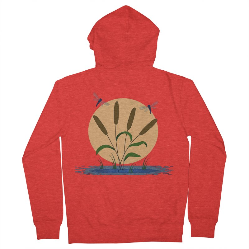 Cattails and Dragonflies Women's Zip-Up Hoody by LadyBaigStudio's Artist Shop
