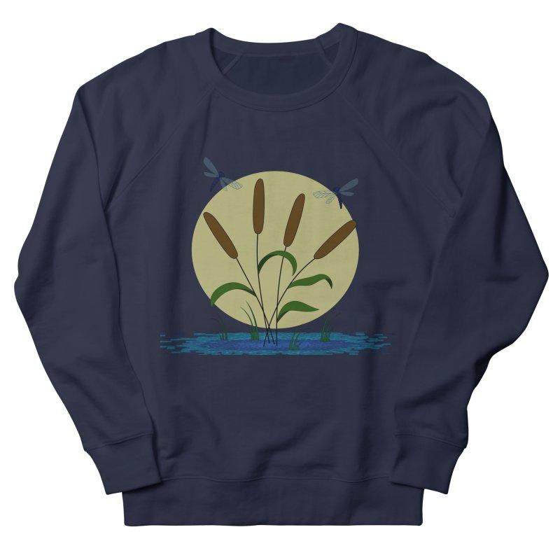 Cattails and Dragonflies Men's Sweatshirt by LadyBaigStudio's Artist Shop