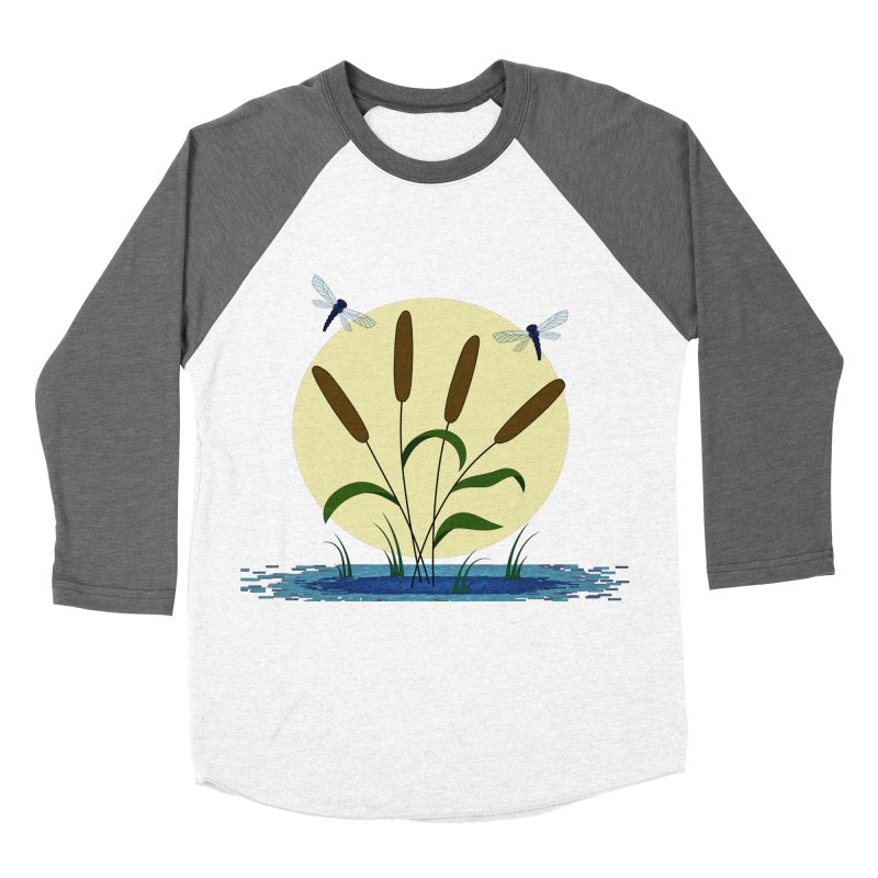Cattails and Dragonflies Women's Longsleeve T-Shirt by LadyBaigStudio's Artist Shop
