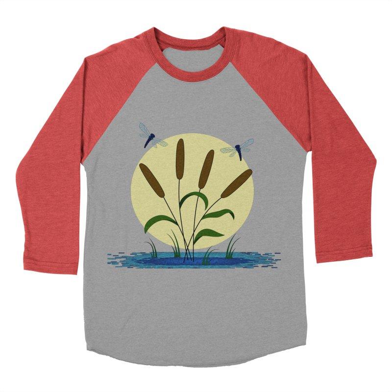 Cattails and Dragonflies Men's Longsleeve T-Shirt by LadyBaigStudio's Artist Shop