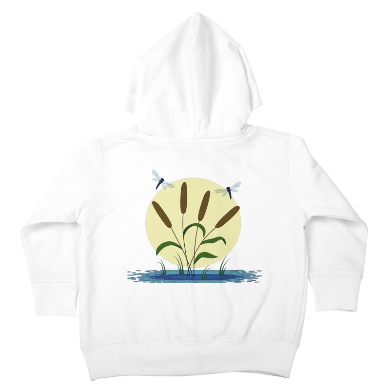 Cattails and Dragonflies Kids Toddler Zip-Up Hoody by LadyBaigStudio's Artist Shop