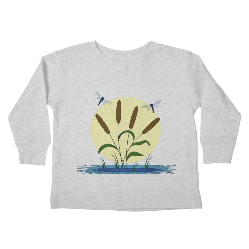 Cattails and Dragonflies Kids Toddler Longsleeve T-Shirt by LadyBaigStudio's Artist Shop