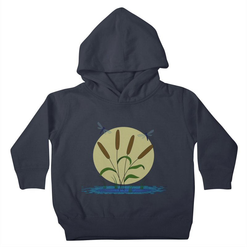 Cattails and Dragonflies Kids Toddler Pullover Hoody by LadyBaigStudio's Artist Shop