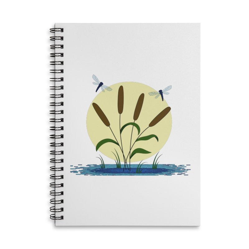 Cattails and Dragonflies Accessories Notebook by LadyBaigStudio's Artist Shop