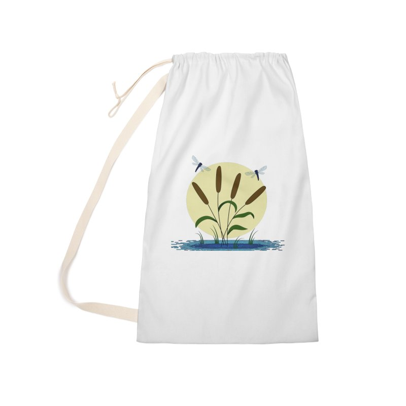 Cattails and Dragonflies Accessories Laundry Bag Bag by LadyBaigStudio's Artist Shop