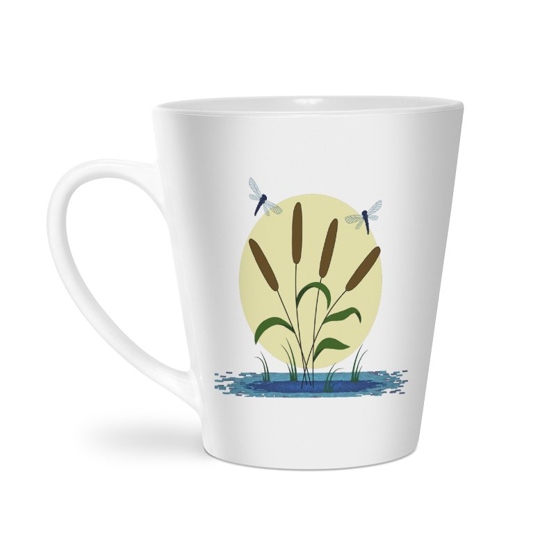 Cattails and Dragonflies Accessories Latte Mug by LadyBaigStudio's Artist Shop