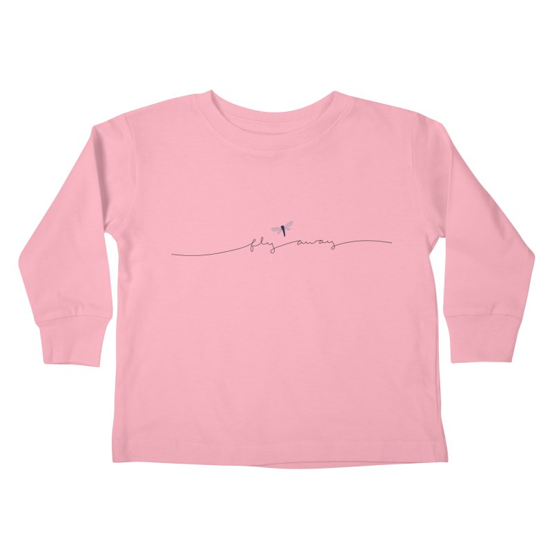 Fly Away Kids Toddler Longsleeve T-Shirt by LadyBaigStudio's Artist Shop