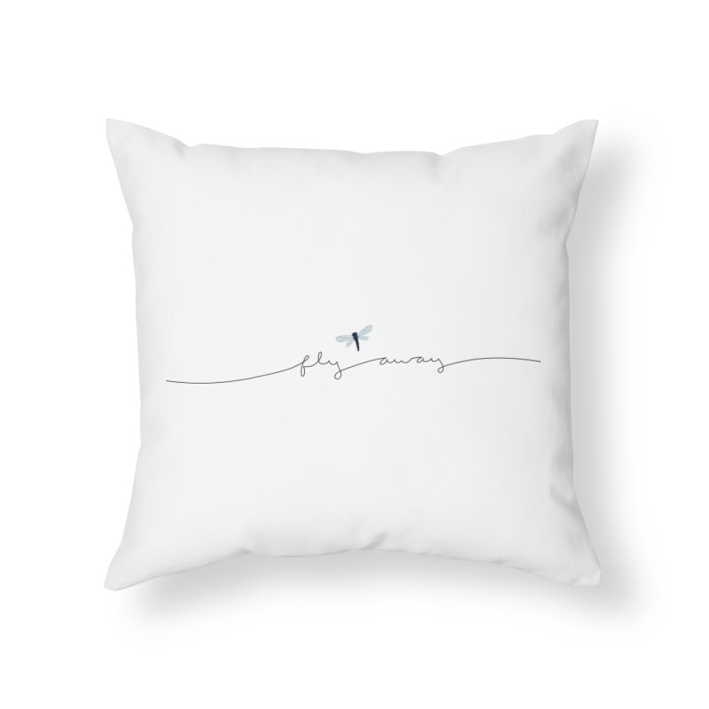 Fly Away Home Throw Pillow by LadyBaigStudio's Artist Shop