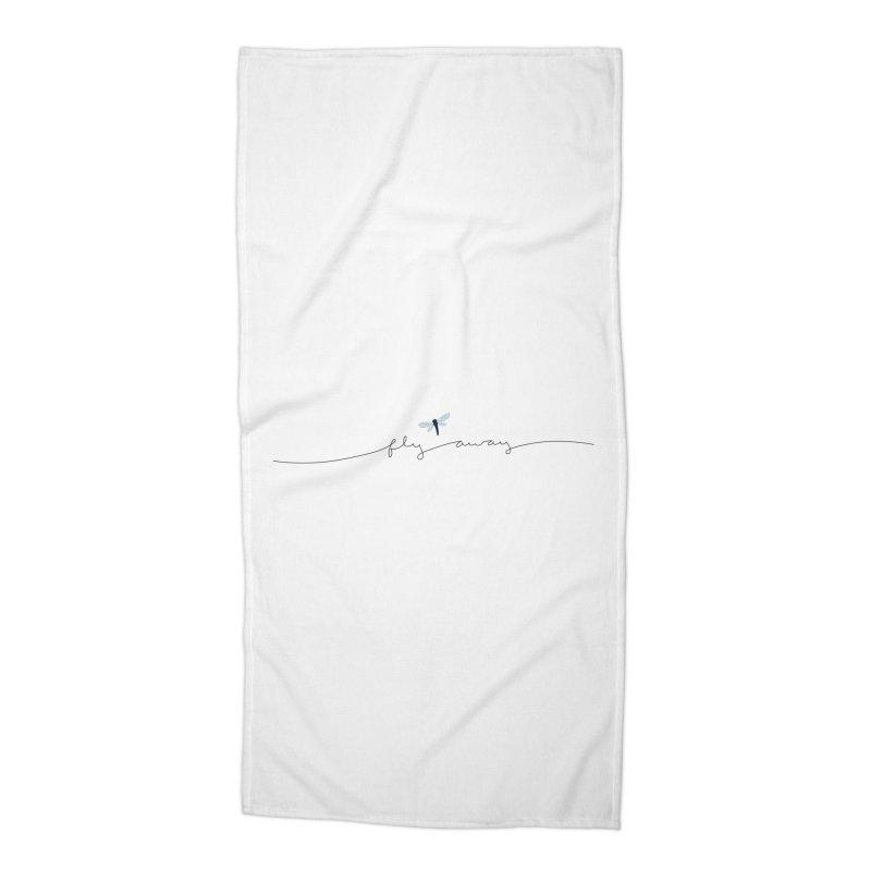 Fly Away Accessories Beach Towel by LadyBaigStudio's Artist Shop