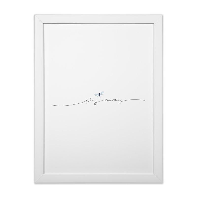 Fly Away Home Framed Fine Art Print by LadyBaigStudio's Artist Shop