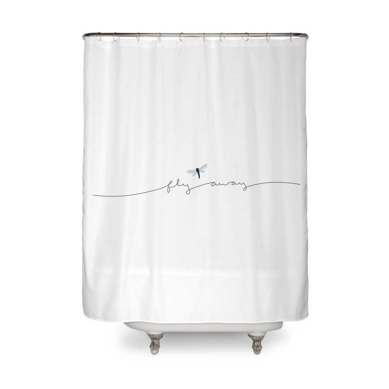 Fly Away Home Shower Curtain by LadyBaigStudio's Artist Shop