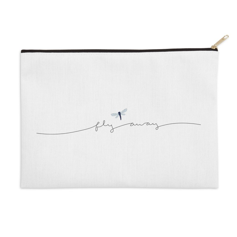Fly Away Accessories Zip Pouch by LadyBaigStudio's Artist Shop