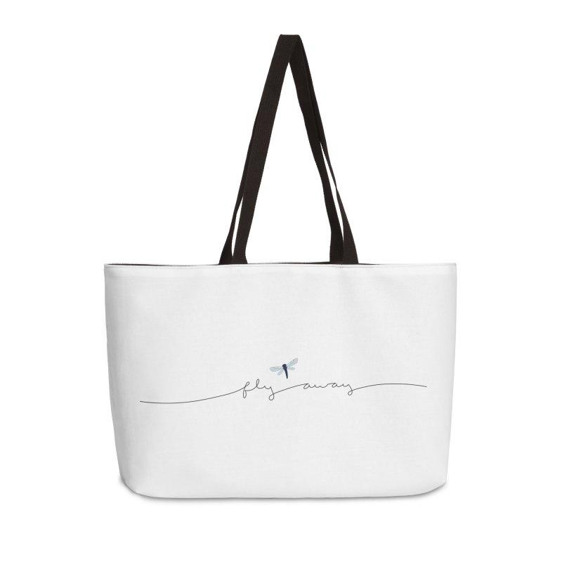Fly Away Accessories Weekender Bag Bag by LadyBaigStudio's Artist Shop