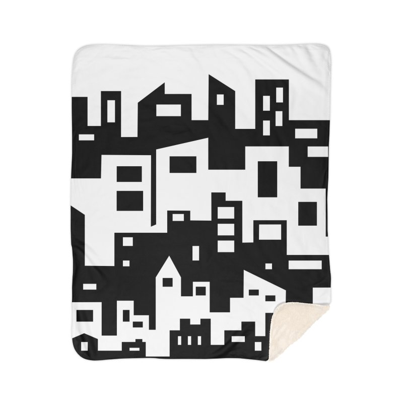 Stacked Cityscape Home Sherpa Blanket Blanket by LadyBaigStudio's Artist Shop