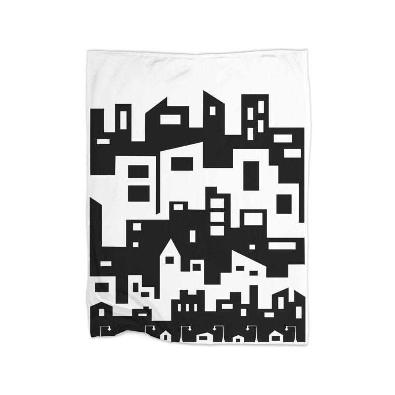 Stacked Cityscape Home Fleece Blanket Blanket by LadyBaigStudio's Artist Shop