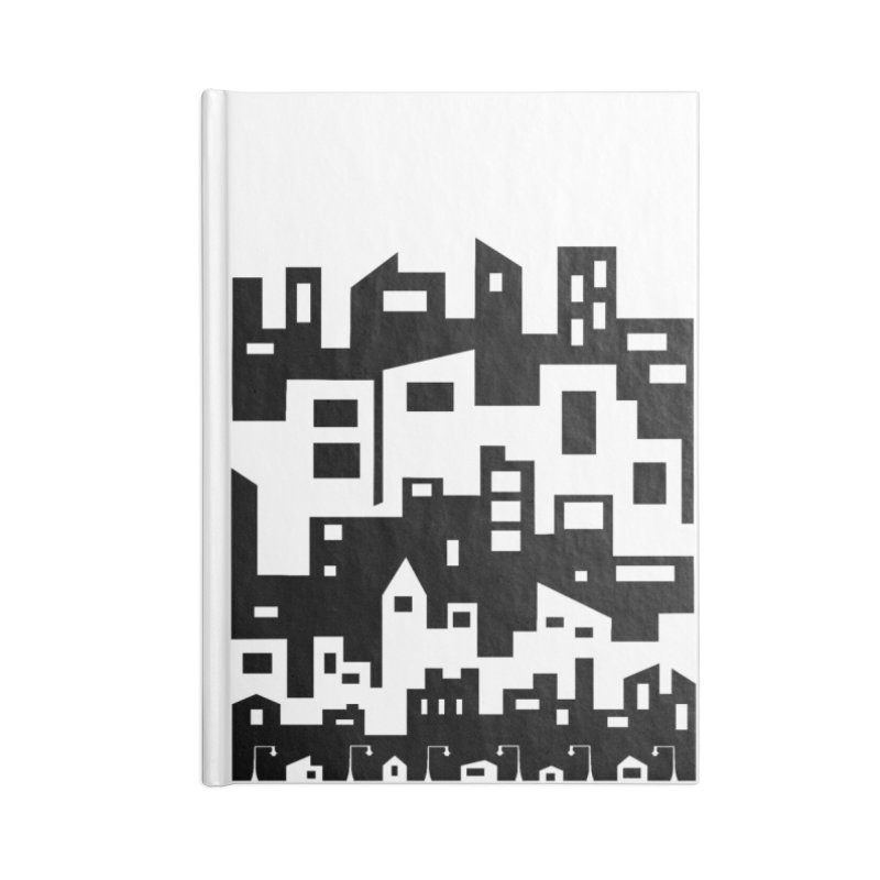 Stacked Cityscape Accessories Lined Journal Notebook by LadyBaigStudio's Artist Shop