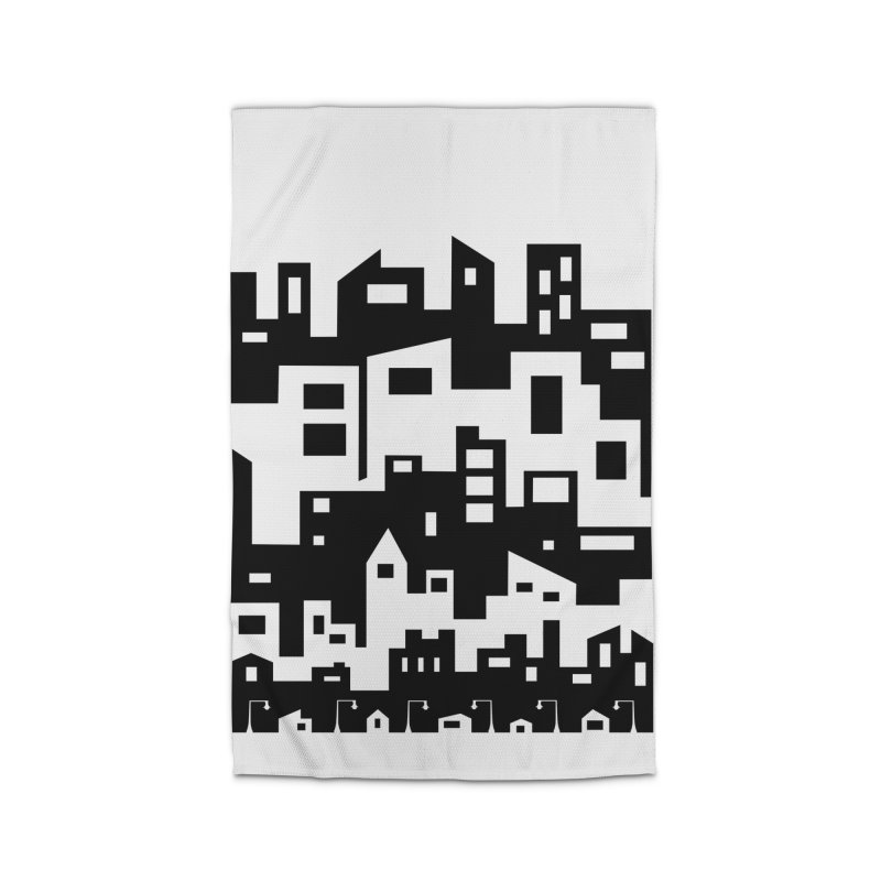 Stacked Cityscape Home Rug by LadyBaigStudio's Artist Shop