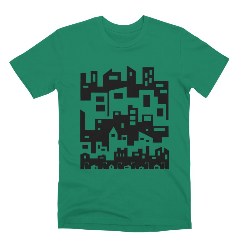 Stacked Cityscape Men's Premium T-Shirt by LadyBaigStudio's Artist Shop