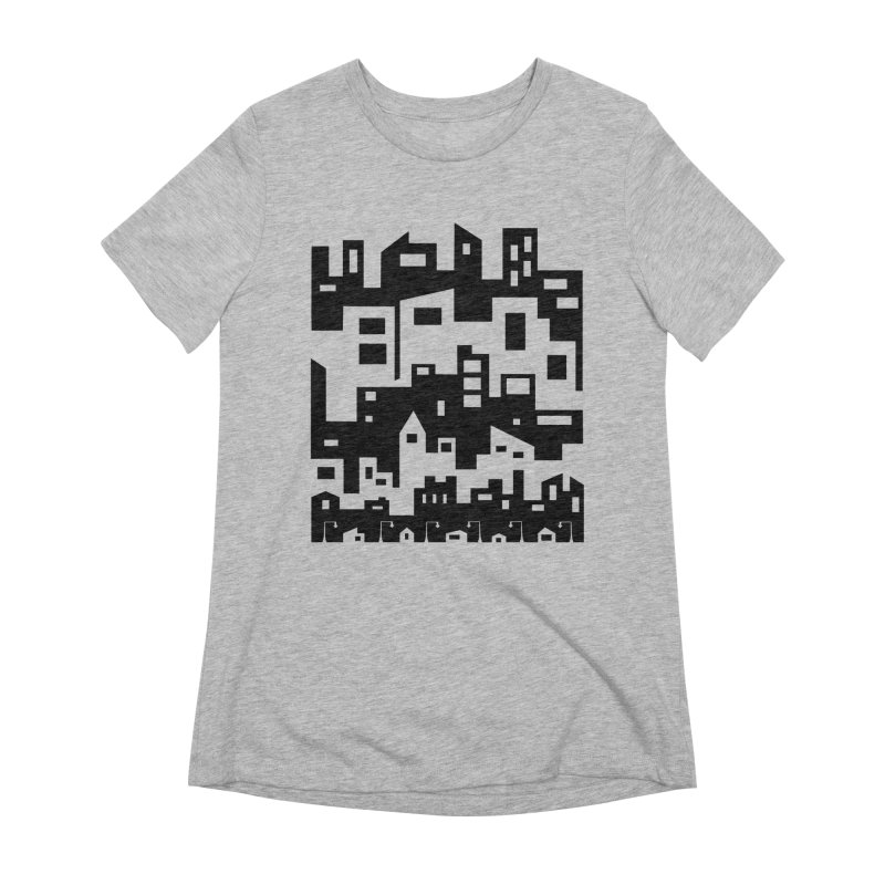Stacked Cityscape Women's Extra Soft T-Shirt by LadyBaigStudio's Artist Shop