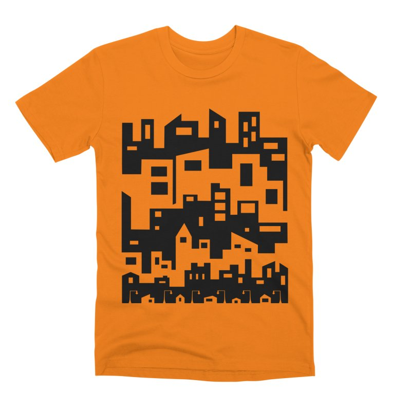Stacked Cityscape Men's T-Shirt by LadyBaigStudio's Artist Shop