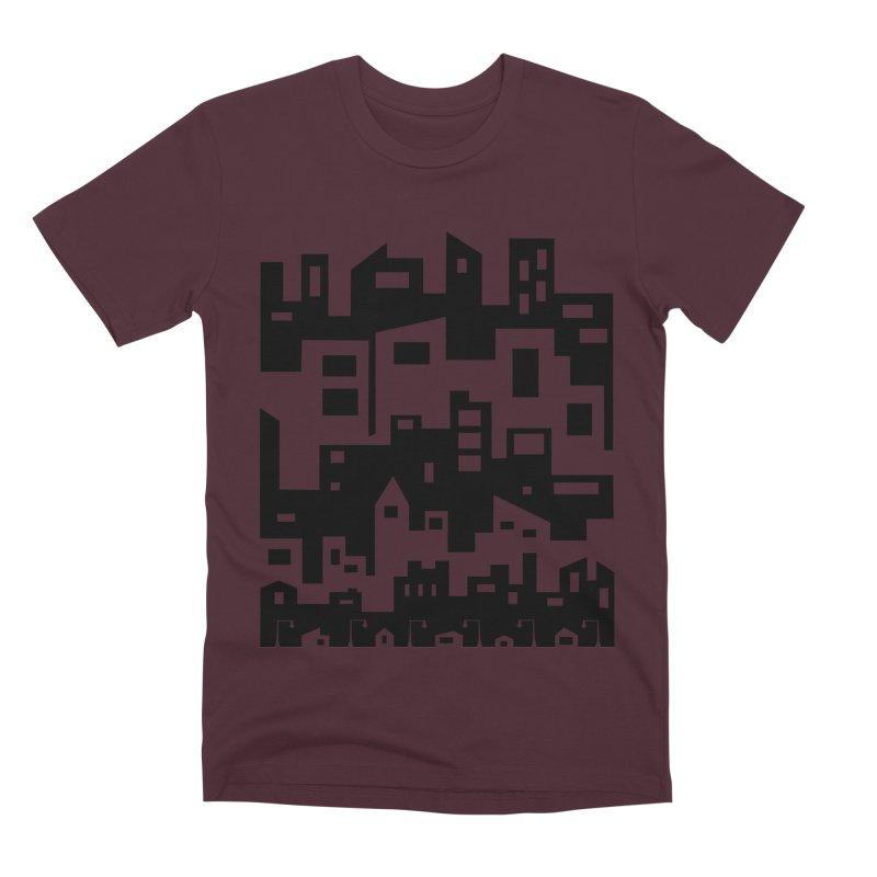 Stacked Cityscape Men's Premium T-Shirt by LadyBaigStudio's Artist Shop