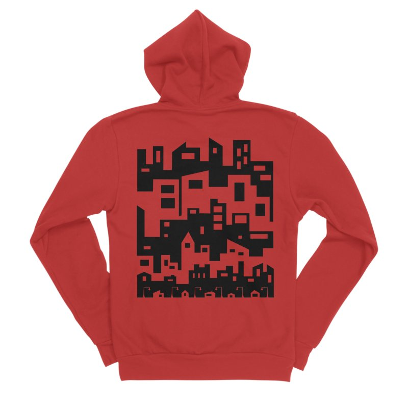 Stacked Cityscape Men's Zip-Up Hoody by LadyBaigStudio's Artist Shop
