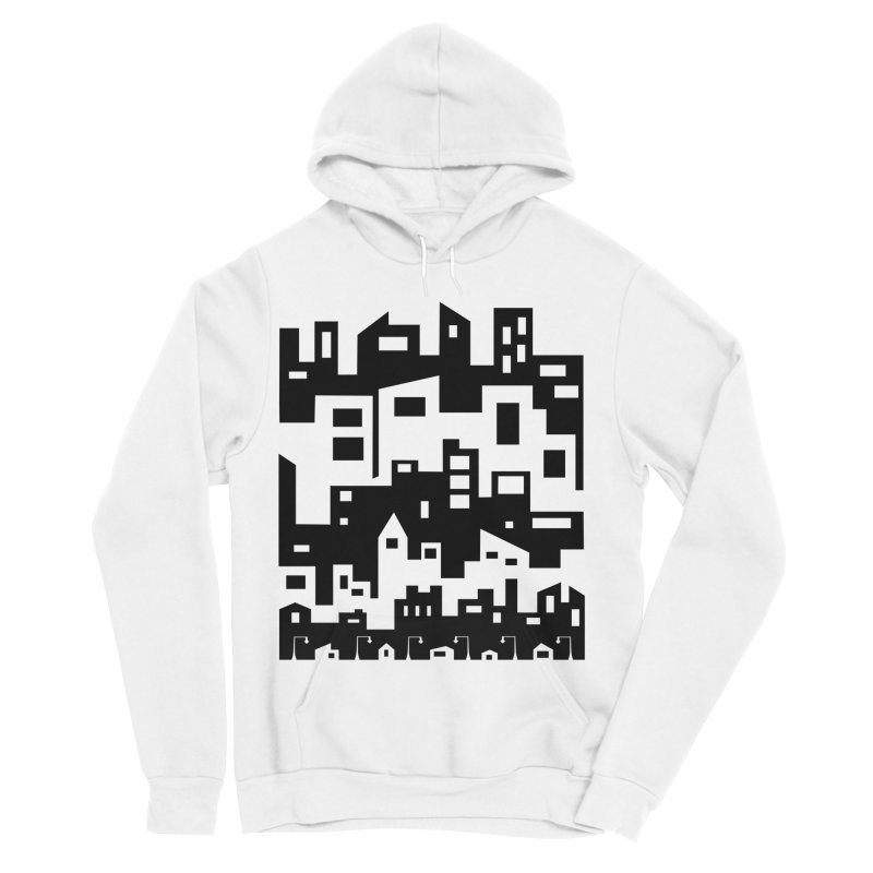 Stacked Cityscape Women's Sponge Fleece Pullover Hoody by LadyBaigStudio's Artist Shop