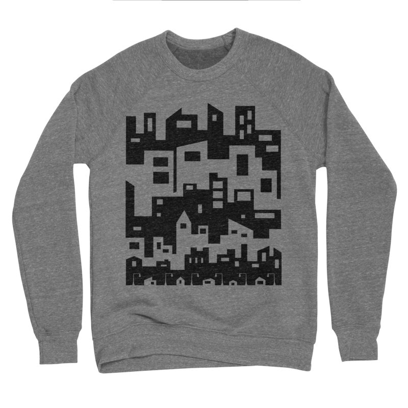 Stacked Cityscape Men's Sponge Fleece Sweatshirt by LadyBaigStudio's Artist Shop