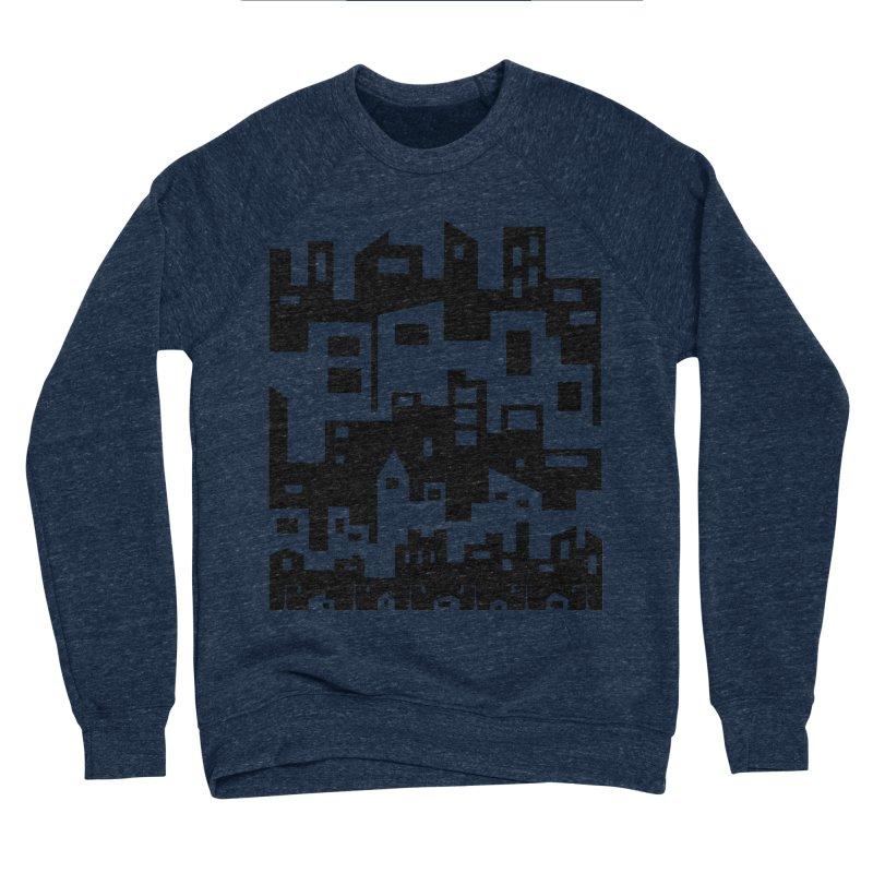 Stacked Cityscape Women's Sponge Fleece Sweatshirt by LadyBaigStudio's Artist Shop