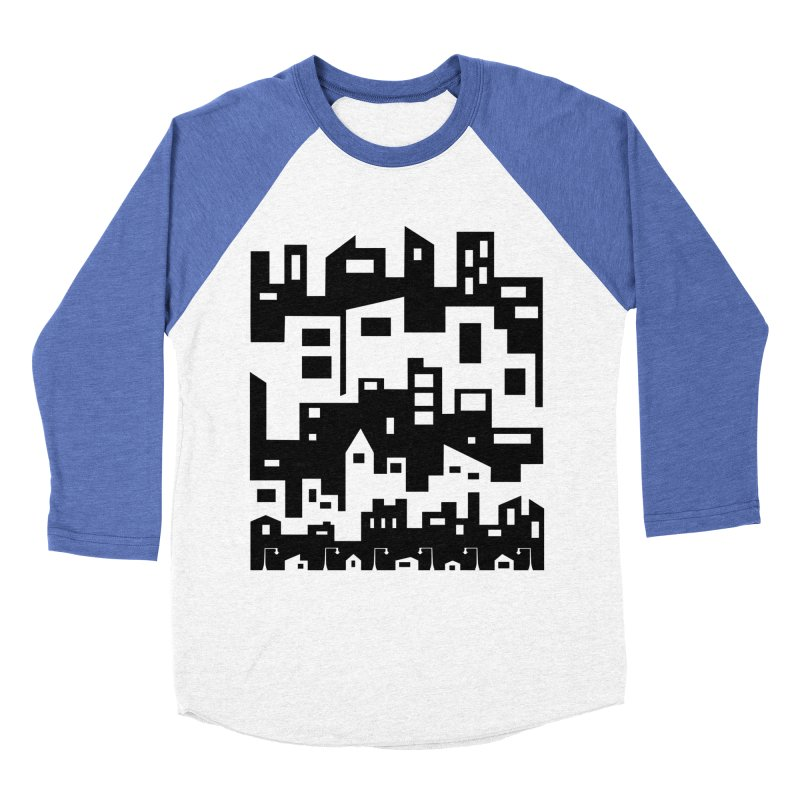 Stacked Cityscape Women's Baseball Triblend Longsleeve T-Shirt by LadyBaigStudio's Artist Shop