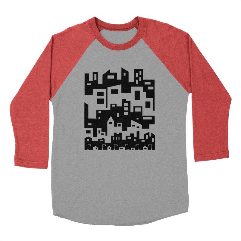 Stacked Cityscape Men's Longsleeve T-Shirt by LadyBaigStudio's Artist Shop
