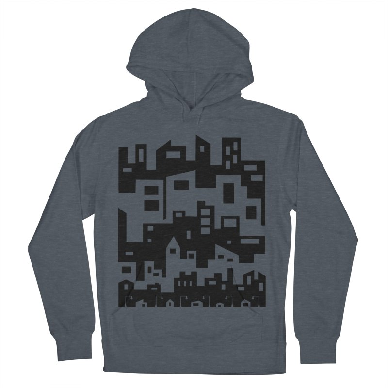 Stacked Cityscape Women's French Terry Pullover Hoody by LadyBaigStudio's Artist Shop