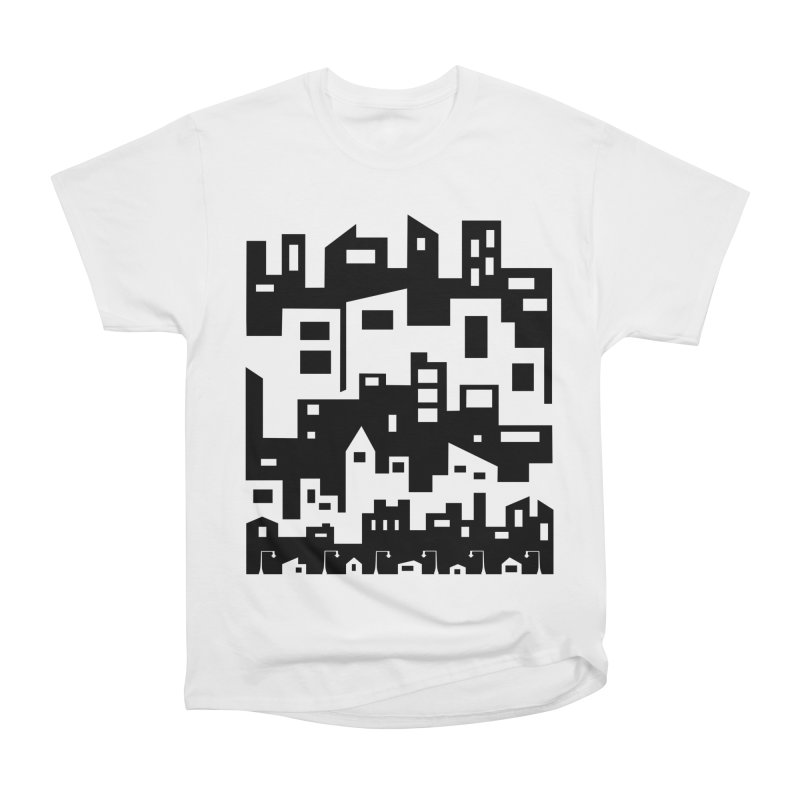 Stacked Cityscape Men's Heavyweight T-Shirt by LadyBaigStudio's Artist Shop