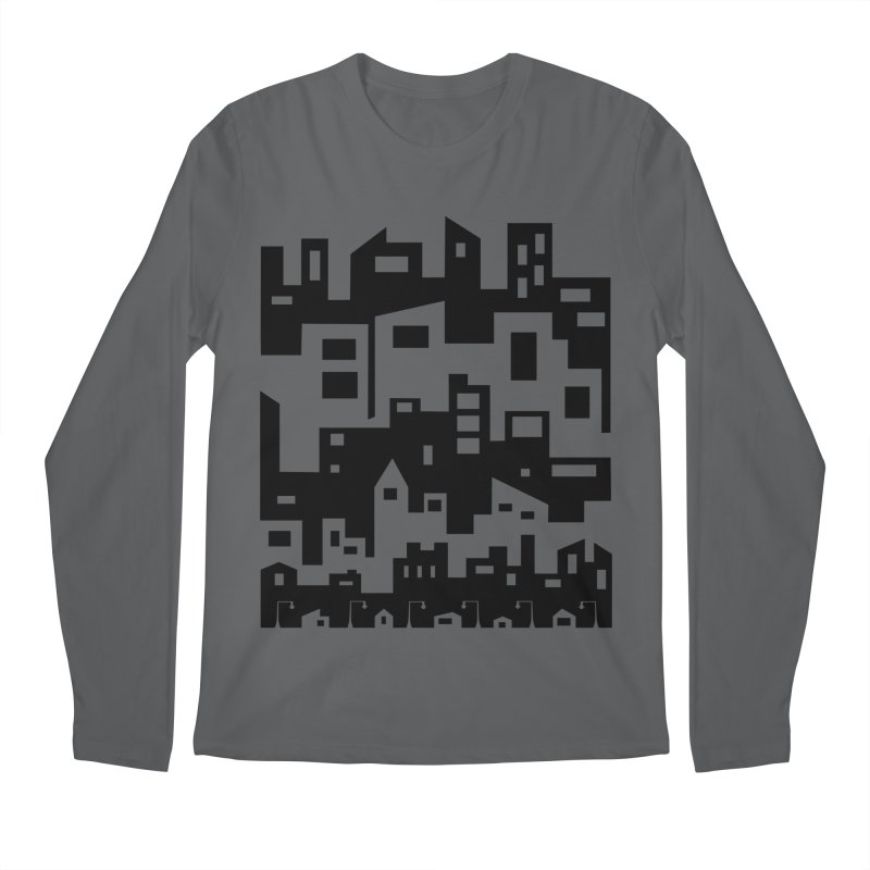 Stacked Cityscape Men's Longsleeve T-Shirt by LadyBaigStudio's Artist Shop