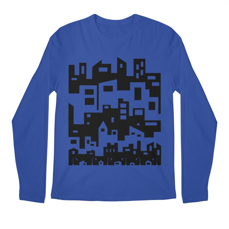 Stacked Cityscape Men's Regular Longsleeve T-Shirt by LadyBaigStudio's Artist Shop