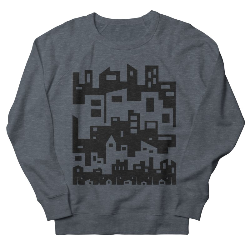 Stacked Cityscape Women's French Terry Sweatshirt by LadyBaigStudio's Artist Shop