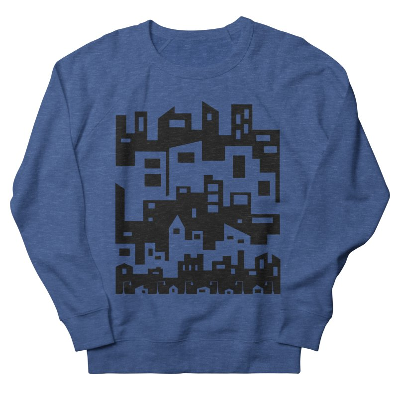 Stacked Cityscape Men's Sweatshirt by LadyBaigStudio's Artist Shop
